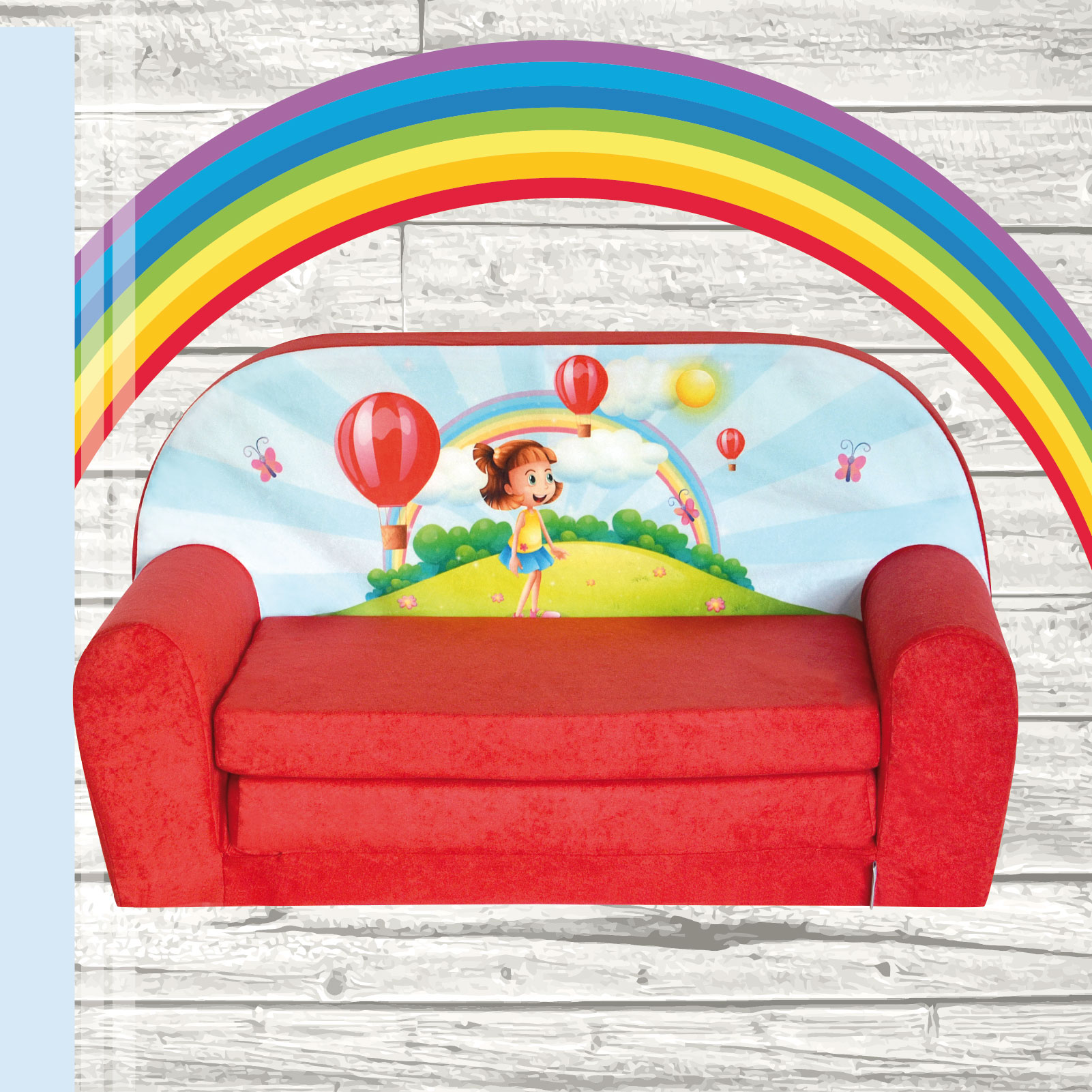 mini canap lit enfant convertible sofa fauteuil ebay. Black Bedroom Furniture Sets. Home Design Ideas