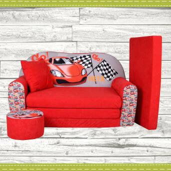 Sofa enfant convertibles racing fauteuils poufs matelas for Fauteuil voiture enfant