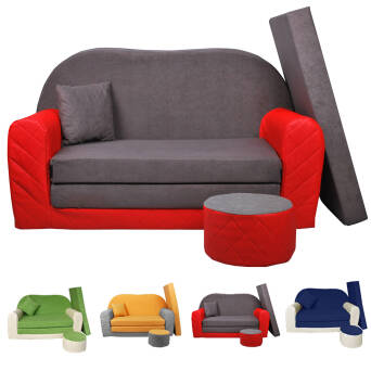 Sofa enfant 2 places convertibles Bi-color