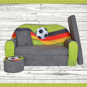 Sofa enfant 2 places convertibles Football Fan Zone DE