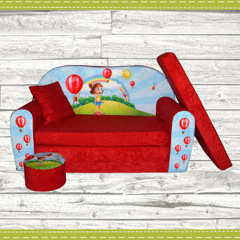Sofa enfant 2 places convertibles Girl
