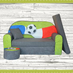 Sofa enfant 2 places convertibles Football Fan Zone FR