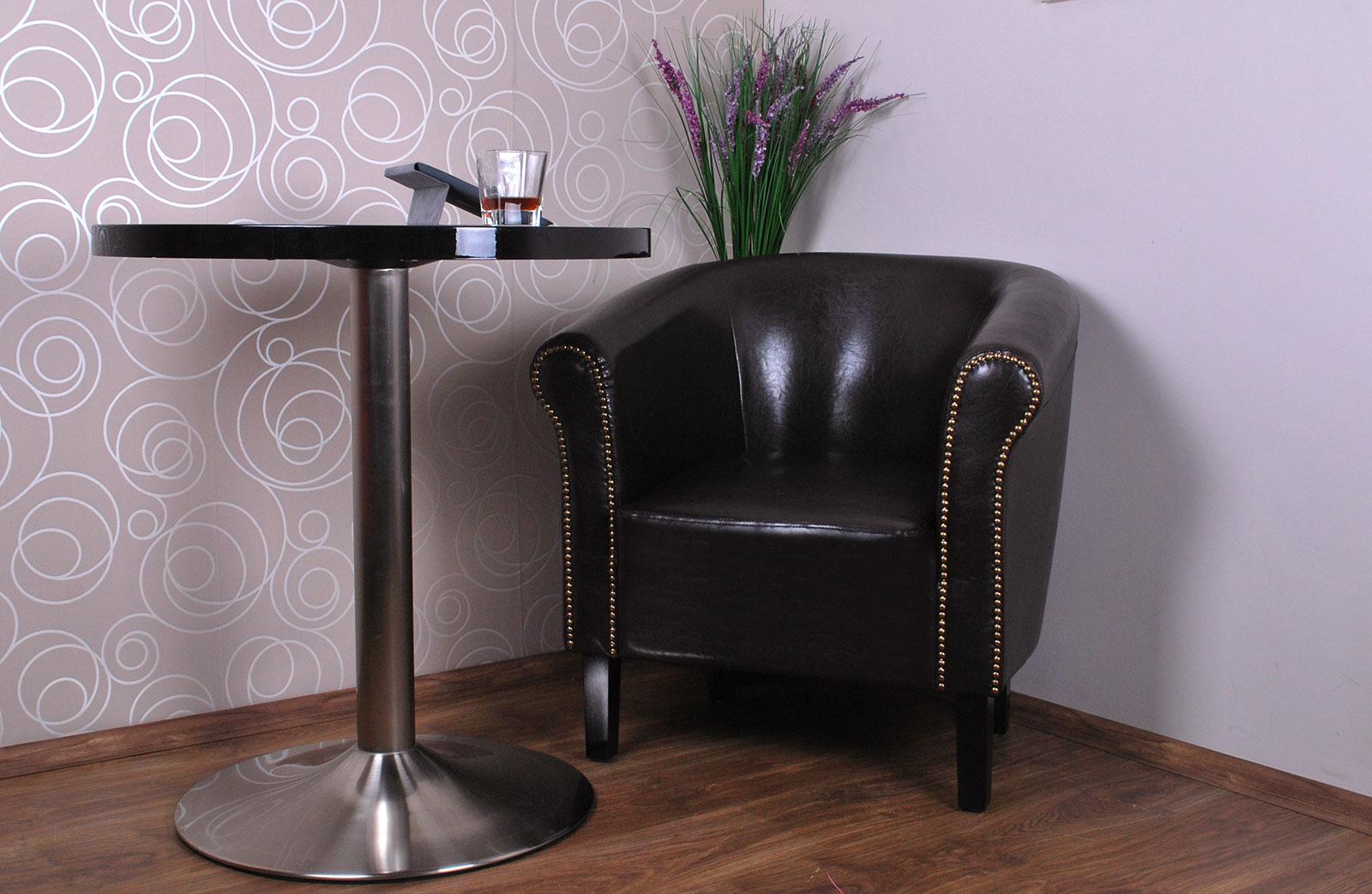fauteuil crapaud monaco art d co salon fauteuil simili cuir ebay. Black Bedroom Furniture Sets. Home Design Ideas